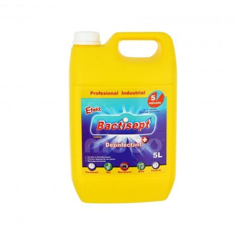 Dezinfectant antibacterian Bactisept 5 litri, dilutie 1% avizat de Ministerul Sanatatii
