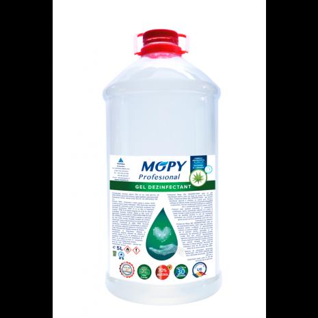 Gel dezinfectant antibacterian 70% alcool MOPY 5 litri avizat de Institutul Sanitaro- Medical Cantacuzino