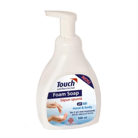 Săpun spumă antibacterian cu pompita Touch, 500 ml