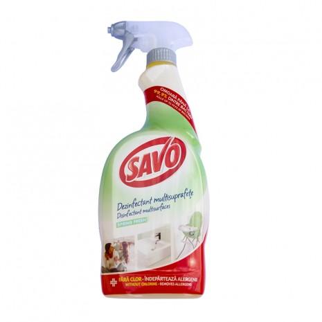 Spray dezinfectant antibacterian pentru suprafete multiple Savo 650 ml