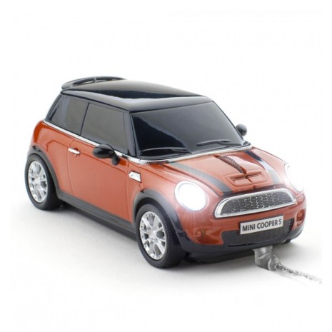 Mouse Mini Cooper S Spice Orange - USB ALEXER SRL