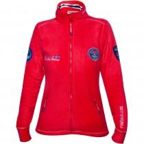 Bluza sport dama din fleece Nebulus, Rosu Germag