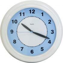 Ceas de perete, Tchibo Tcm, 20.5 cm, Alb/Albastru Germag