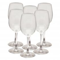 Set 6 pahare vin Domino, sticla, 200 ml, Transparent Germag
