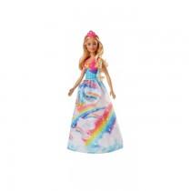 Papusa Barbie Dreamtopia Printesa 2018, Rochie Rainbow