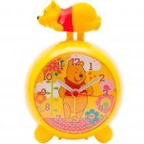 Ceas desteptator cu alarma Winnie the Pooh, Disney, AA, 12 X 8 cm, setare manuala, galben, pentru copii Germag
