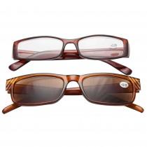 Ochelari de vedere cu dioptrii + 3.00 TRI International, rama maro cu insertii pietricele, 2 bucati, 92952BR3.00 Germag