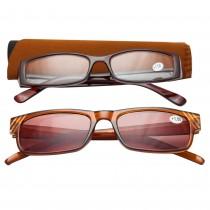 Ochelari de vedere cu dioptrii + 1.50 TRI International, rama maro cu insertii pietricele, 2 bucati, 85824BR1.50 Germag