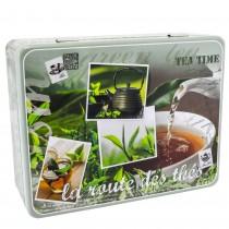 Cutie metalica petru ceai, 6 compartimente, capac, design by Dora Papis, 20.5 X 16 X 7 cm, multicolora, 84848 Germag