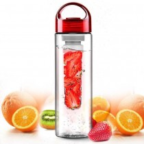 Sticla HidraVit RED cu infuzor multifunctionala - apa cu vitamine/ceai/shake de proteine LuuKat's kitchen corner
