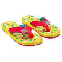Papuci de vara Adelia Rucanor, imprimeu cu inimioare, Roz/Verde, pentru fete, 75771LGP33 Germag