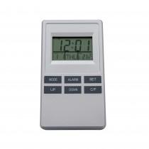 Statie meteo cu ceas si alarma, senzor intern, argintie, 14039 Germag