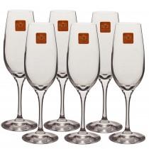 Set pahare sampanie cristal RCR, 6x180 ml, 58530 Germag