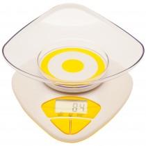 Cantar digital de bucatarie cu bol Tchibo, 4000 g, display LCD, functie TARA, alb Germag