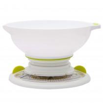 Cantar de bucatarie Cuisiner Elegance, mecanic, 3 Kg, alb/verde, 27054LM Germag