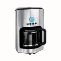 Cafetiera DomoClip DOD154, 1000W, 1.8L, 12 cani cafea, sticla, LCD, Negru/Inox