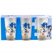 "Set 3 pahare ""Sonic the hedgehog"" pentru copii Germag"