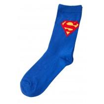 """Sosete cu logo """"Superman"""" DC Comics, albastre, pentru baieti Germag"""