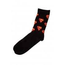 """Sosete cu logo """"Superman"""" DC Comics, negre, pentru baieti Germag"""