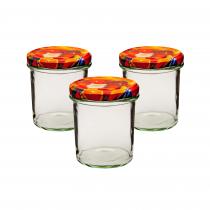 Set borcane sticla pentru dulceata Florentyna, cu capac, 3 bucati, 350ml, Transparent Germag