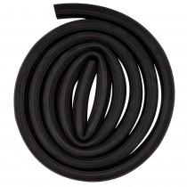 Canal organizator pentru cabluri TRI International, 2.4 m, cauciuc flexibil, negru, 05035 Germag