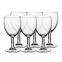 Set pahare apa/racoritoare sticla Gourmandine, cu picior, 6x240 ml, 12734 Germag