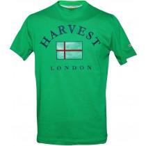 "Tricou din bumbac 100% cu imprimeu ""Harvest London"", verde, pentru barbati Germag"