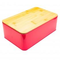 Cutie metalica pentru paine Excellent Houseware, 32,5x20,5x12 cm, Fuchsia Germag