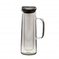 Carafa din sticla cu maner pentru apa/fresh+recipient interior pentru gheata, 1,5 L, Transparenta Germag