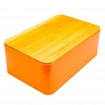 Cutie metalica pentru paine Excellent Houseware, 32,5x20,5x12 cm, Portocaliu Germag
