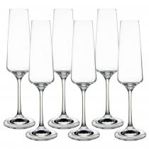 Set pahare sampanie cristal Bohemia, 6x160 ml, Transparent Germag