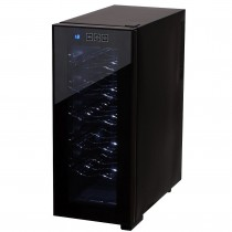 Frigider Racitor Camry pentru Sticle Vin, Capacitate 12 Sticle sau 33L, Iluminare Interioara, Touch, 50W