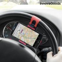Suport auto universal pentru telefoane mobile cu prindere pe volan