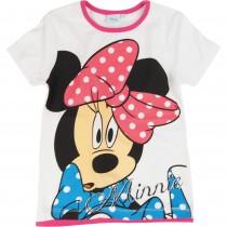 Tricou alb bumbac Minnie Mouse Disney, pentru fetite Germag