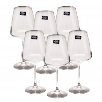 Set 6 pahare cristal vin rosu Bohemia,  450ml, Naomi Collection Germag