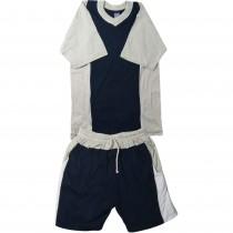 Tricou si pantaloni scurti navy Basic Streets, pentru baieti Germag