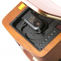 Centru Muzical Radio Retro Camry din Lemn cu CD Player, FM/LW, Putere 19W, USB, Telecomanda