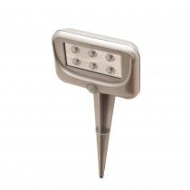 Lampa cu 6 LED-uri si senzor de miscare pentru gradina Easy Maxx, Argintiu Germag