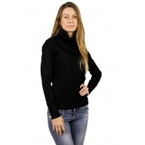 Pulover de dama negru cu guler, Ladies Fashion Germag