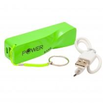 Baterie externa portabila Power Bank, 2200 mAh, 5V, 1 port USB, Verde Germag