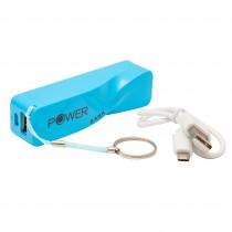 Baterie externa portabila Power Bank, 2200 mAh, 5V, 1 port USB, Albastru Germag