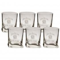 Set 6 pahare sticla pentru whisky Borgonovo, 270 ml, 9x7 cm Germag