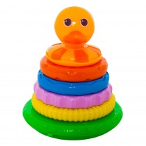 Jucarie educativa Stacking Duck, sunete interactive, multicolora, 28378 Germag