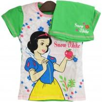 Tricou si pantaloni scurti  Alba ca Zapada Disney, pentru fetite Germag