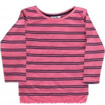 Bluza roz cu dungi pentru fetite, Topolino Germag