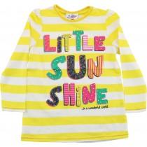 Bluza galbena pentru fetite, Little Sun Shine, bumbac Germag