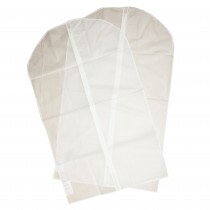 Husa pentru haine Tesco, 2 bucati, 100x60 cm, Alb Germag