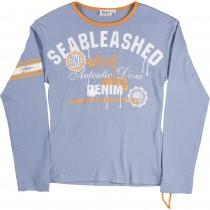 Bluza cu maneci lungi Seableashed, bumbac 100%, bleu, imprimeu multicolor, pentru fetite Germag