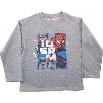 Bluza baieti Spiderman, gri, bumbac Germag