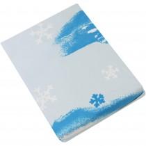 Set 3 piese lenjerie pat pentru copii Winterengel, 1 persoana, Alb/Albastru Germag